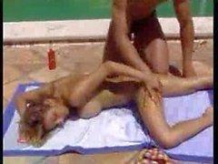 Busty Bikini Girl And Pool Studd Being Watched M22 Porno Video