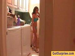 Part4 mastürbasyon yaparken Dostum bir kız gözetliyor