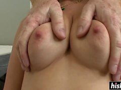 Hot blonde gets a nice hard cock