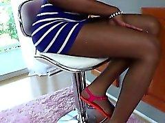 Ebony Tgirl Kayla Biggs in wild anal sex
