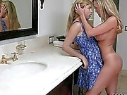 Lia Lor sharing wiener with Brandi Love