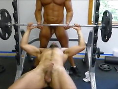 Gym'den AA iki Kıllı kas Hunks sikiş Ham