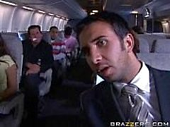 passengers having quickie in an airplane
