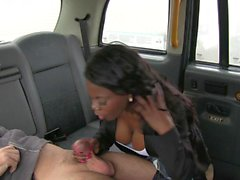 Black woman gets drilled by fraud driver