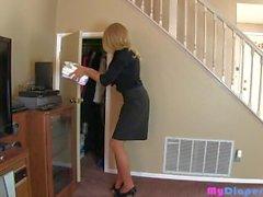 Desperate Diapered Secretary