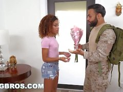 BANGBROS - Black Pornstar Kendall Woods Fucks For Our Troops (bkb15504)