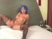 Brazilian Mujer Luna Bella swallow cum