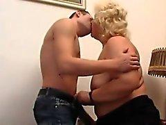 Fett russischen Oma