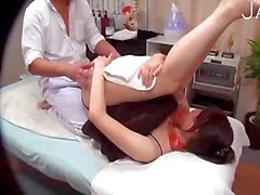 asian babe got massage