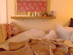 Del hott Brunetta strisce stuzzica in cam