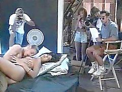 Леена , Азия Каррера, Тома Байрон в винтажном полового зажима