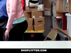 ShopLyfter - Corporate Spy Chick Detained and Banged