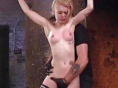 Beautiful Blonde Brutalized In Bondage