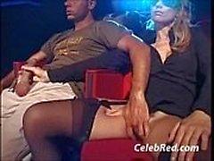 Geschlechts in Kino , Arschloch Ins Lecke Cum Ebony