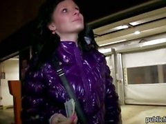 Petite Czech girl picked up in the streets and fucked for cash