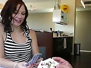 Chloe Love and bf playing poker and fucked then creampied