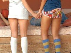 Hetero Jugendliche Bianca und Paloma