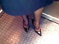 hielen voeten in nylon