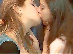 Two lesbian girls having fun