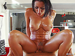 Fit oiled honey Rachel Starr screwed hardcore