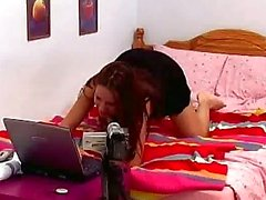 Czech babe Claudia Rossi horny on the webcam