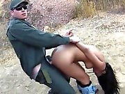 Cute latina Josie Jaeger pounded by border patrol officer