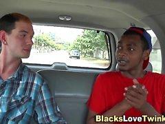 Guy takes big black cock