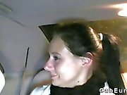Lurade flickvän knullad på fake taxi efter hämnd
