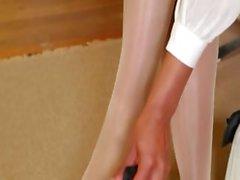 Pantyhose und in den exotisches nur ausziehen