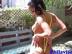 del brunette Brasile bomba sexy Abby Lee in Brasile