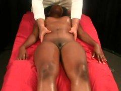 Ebenholz auf interracial Massage