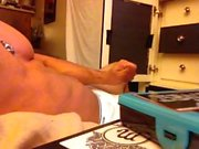 Muscular Male Stripper Full Masturbation Scene! Full Explosive Eruption!