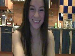 Blonde coquine avec une banane le Webcam