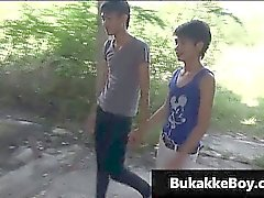 Asiatico gay a video porno rapporto a tre