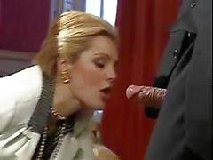 Muhteşem klasik porno yıldızı Laure Sainclair gelenen iyi XXX sinema