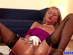 British classy mature lesbo loves blonde
