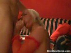 Busty stora bröst kvinna fan