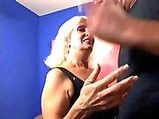 Blond haired wrinkled granny Vikki Vaughn