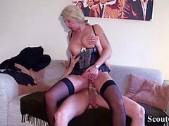 GERMAN YOUNGSTER SEDUCE MILF REALTOR to FUCK IN LINGERIE