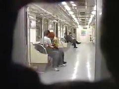 Seoul Train Blowjob -- Two Korean guys
