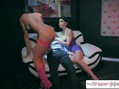 La experiencia Stripper - Jessica Jaymes y Silvia Saige follando una gran polla