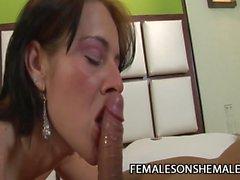 Michelle Gomes - Busty Tranny Slammin A Tight Pussy