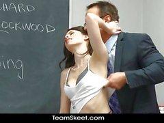 InnocentHigh Perky tits schoolgirl teen fucked facializ