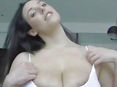 POV Angela White titfucking with huge cumshot