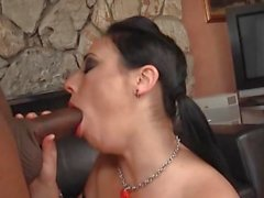 Pyra Lee invites the black shaft into her nether regions and trembles