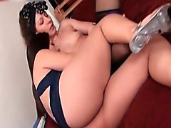 Gorgeous brunette is very hot watching part2