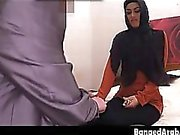 Arab Beauty In Dark Head Scarf Sucking Dick In Bedroom
