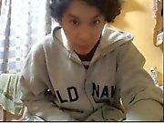 Geraden Jungs Fuß über Webcam # 358