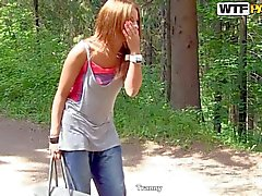 18 yo Madelyn gets seduced and fucked outdoors