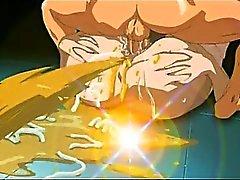 Grosse titted hentai Amme erwischt den Ball haarige Möse und Mund hart durchgefickt